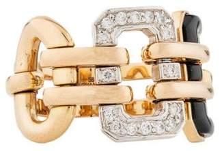 Chanel 18K Diamond & Onyx Première Ring