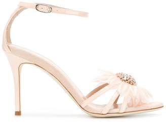 Giuseppe Zanotti Design embellished flower sandals