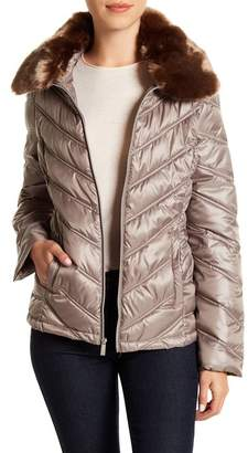 Kenneth Cole New York I Love New York Faux Fur Lined Coat