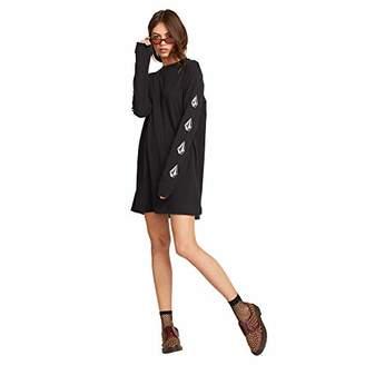 Volcom Junior's Women's What A Trip Long Sleeve Tee Dress