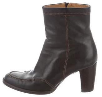 Hogan Leather Mid-Calf Boots