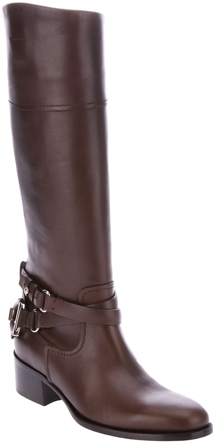 Ralph Lauren knee high biker boot