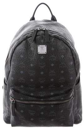 MCM Visetos Leather-Trimmed Backpack