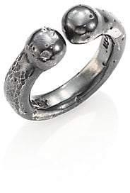 King Baby Studio Men's Sterling Silver Adjustable Bull Ring