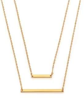 Jennifer Zeuner Jewelry Cynthia Bar Double-Wrap Necklace