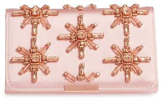 Ted Baker Daveena Crystal Embellished Satin Clutch