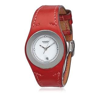 Hermes Vintage Harnais Burgundy Steel Watches