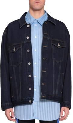 Martine Rose Oversized Cotton Denim Jacket