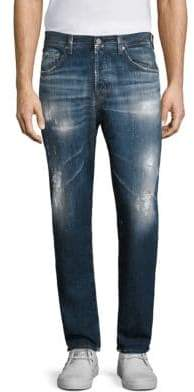 AG Jeans Apex Slim-Fit Distressed Jeans
