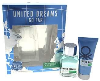 Benetton Dreams Go Far 2 Piece Gift Set with Eau de Toilette and After Shave for Men