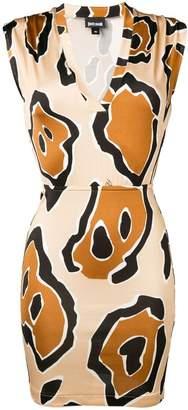 Just Cavalli abstract print mini dress