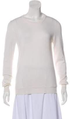 Maison Margiela Satin-Accented Crew Neck Sweater