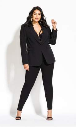 City Chic Citychic Mrs Draper Jacket - black