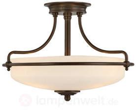 Bronzefarbene Deckenlampe Griffin