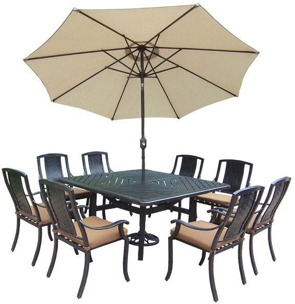 Oakland Living Corporation Ravenna Sunbrella Aluminum 11-piece Dining Set
