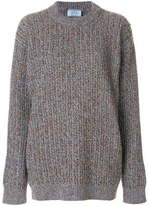 Prada oversized chunky knit sweater
