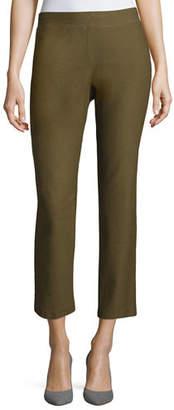 Eileen Fisher Washable Crepe Slim-Leg Ankle Pants