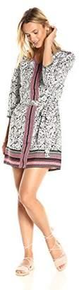 Ella Moon Women's Rayna 3/4 Sleeve Panel Shift Dress with Belt