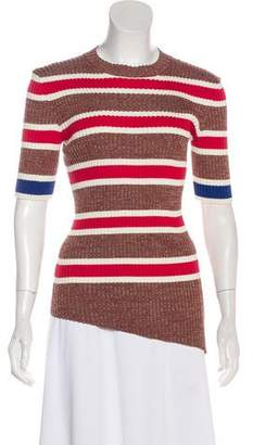 Celine Rib-Knit Stripe Top w/ Tags