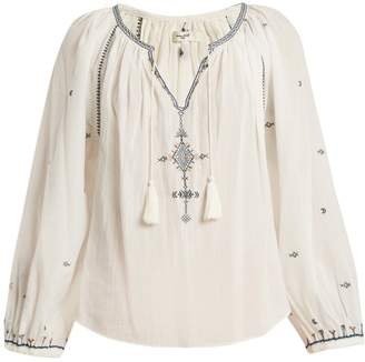 Etoile Isabel Marant Melina tassel-embellished cotton top