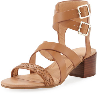 Tommy Bahama Glynda Crisscross City Sandal, Dark Brown $99 thestylecure.com