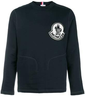 Moncler embroidered logo patch sweatshirt
