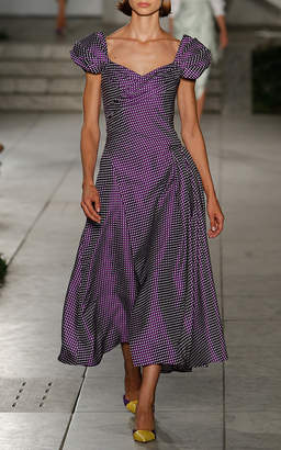 Carolina Herrera Polka Dotted Dress