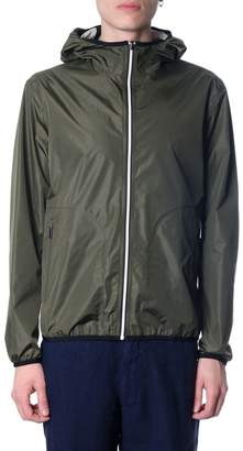 Ermenegildo Zegna Green Reversible Jacket With Hood