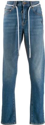 Off-White drawstring belt slim-fit denim jeans