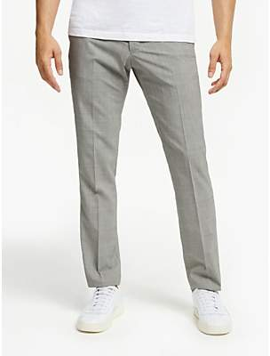 Glen Check Slim Fit Suit Trousers, Grey