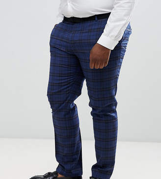 Twisted Tailor super skinny suit pant with tartan check in wool