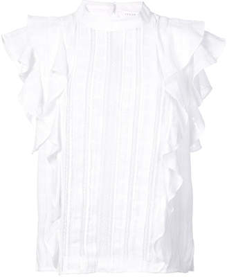 Veronica Beard frilled loose blouse