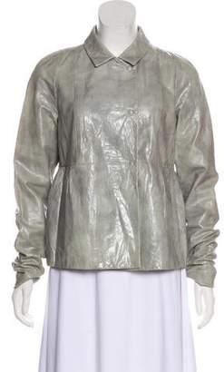 Miu Miu Textured Leather Jacket