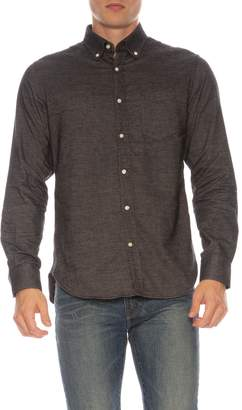 Officine Generale Brushed Cotton Oxford Button-Front Shirt
