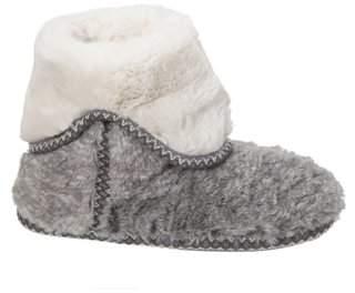 Dearfoams Women's Faux Fur Foldown Boot Slippers
