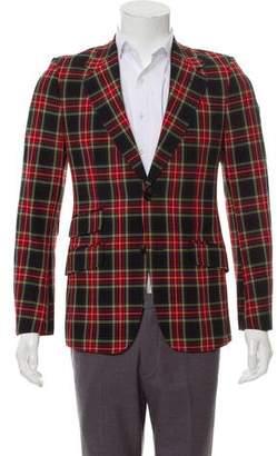 Gucci Tartan Wool Blazer w/ Tags
