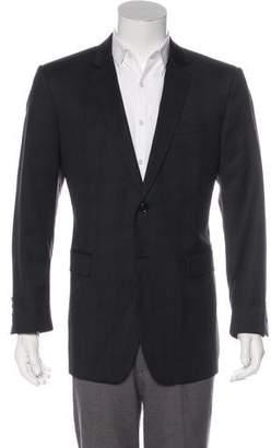 Burberry Checked Virgin Wool Blazer
