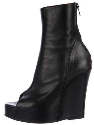 Ann Demeulemeester Leather Wedge Booties