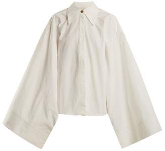A.W.A.K.E. Mode A.w.a.k.e. Mode - Kimono Sleeve Cotton Shirt - Womens - White