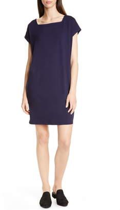 Eileen Fisher Square Neck Tencel® Lyocell Blend Dress