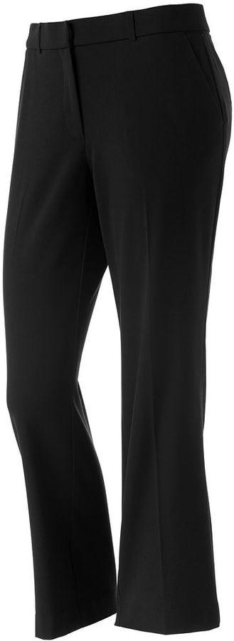 Sag Harbor straight-leg pants - petite