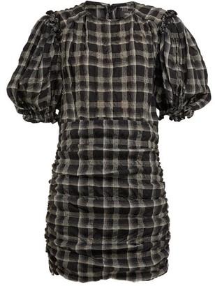 Isabel Marant Adelaide Organza Mini Dress - Womens - Black