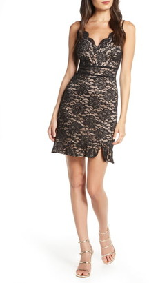 Morgan & Co. Front Lace Sleeveless Cocktail Dress