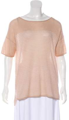 360 Cashmere Cashmere Short Sleeve Top Pink Cashmere Short Sleeve Top