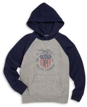 Ralph Lauren Toddler's, Little Boy's& Boy's Hooded Graphic Sweatshirt