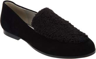 Logo By Lori Goldstein Lori Goldstein Collection Loafer with Faux Sherling Detail