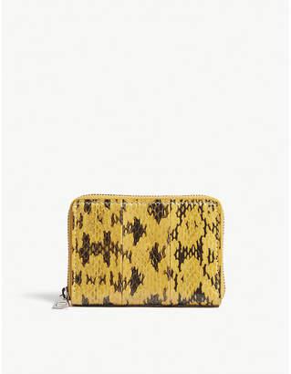 Byredo Snakeskin leather zip-around purse