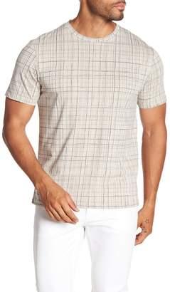 Theory Clean Windowpane Print T-Shirt
