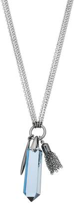 Vera Wang Simply Vera Faceted Stone, Spike & Tassel Two Tone Dual Strand Necklace