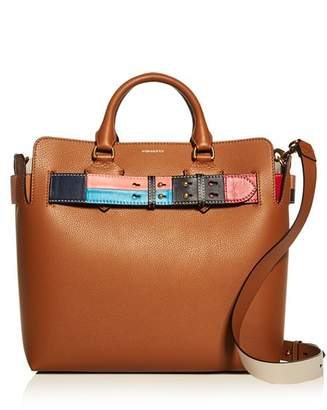 Burberry Medium Leather Color Block Detail Belt Bag